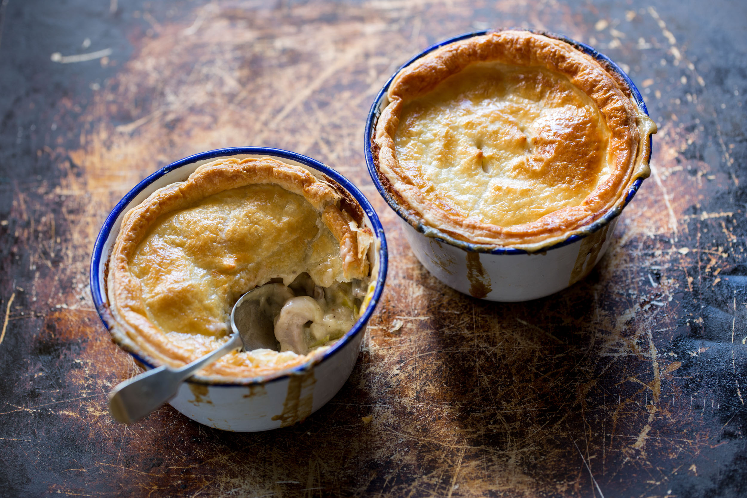 Pot Pies for Westgold advertising photography