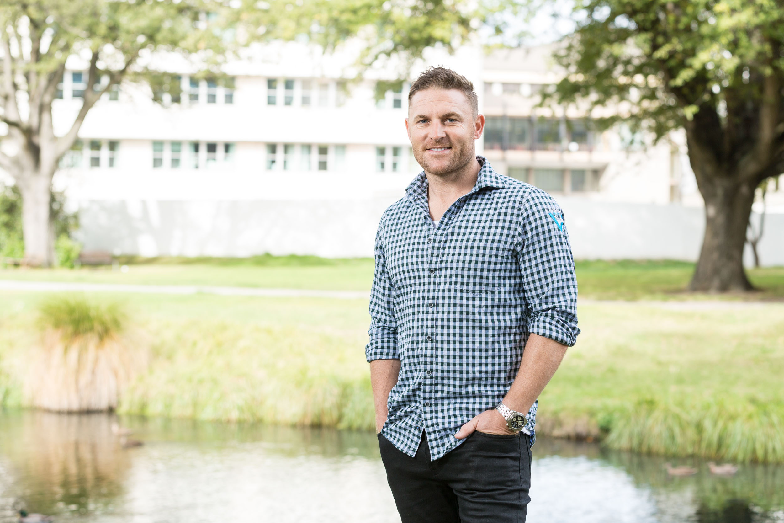 Commercial portrait of Brendon McCullum for Maia advertising