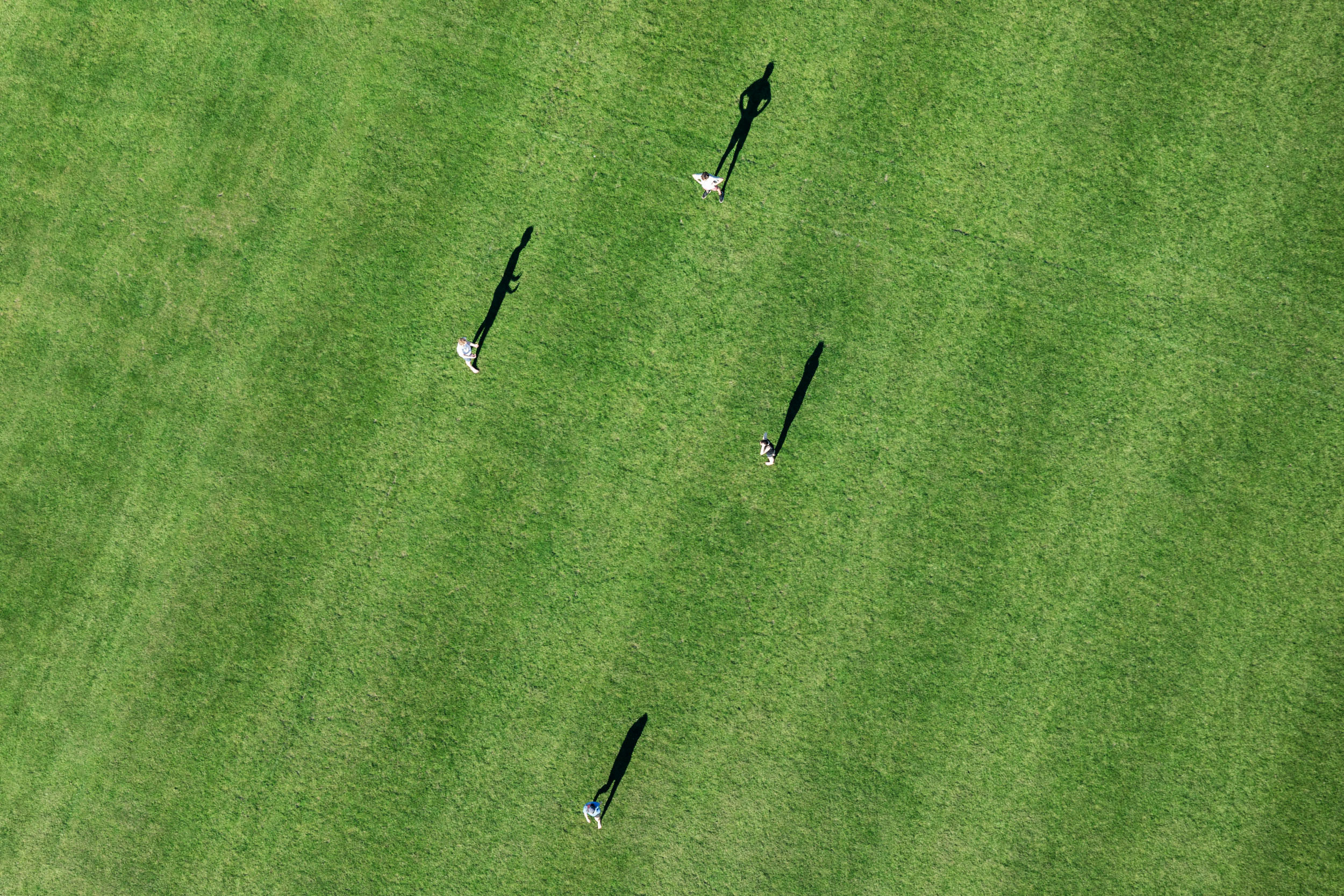 Soccer practice from above