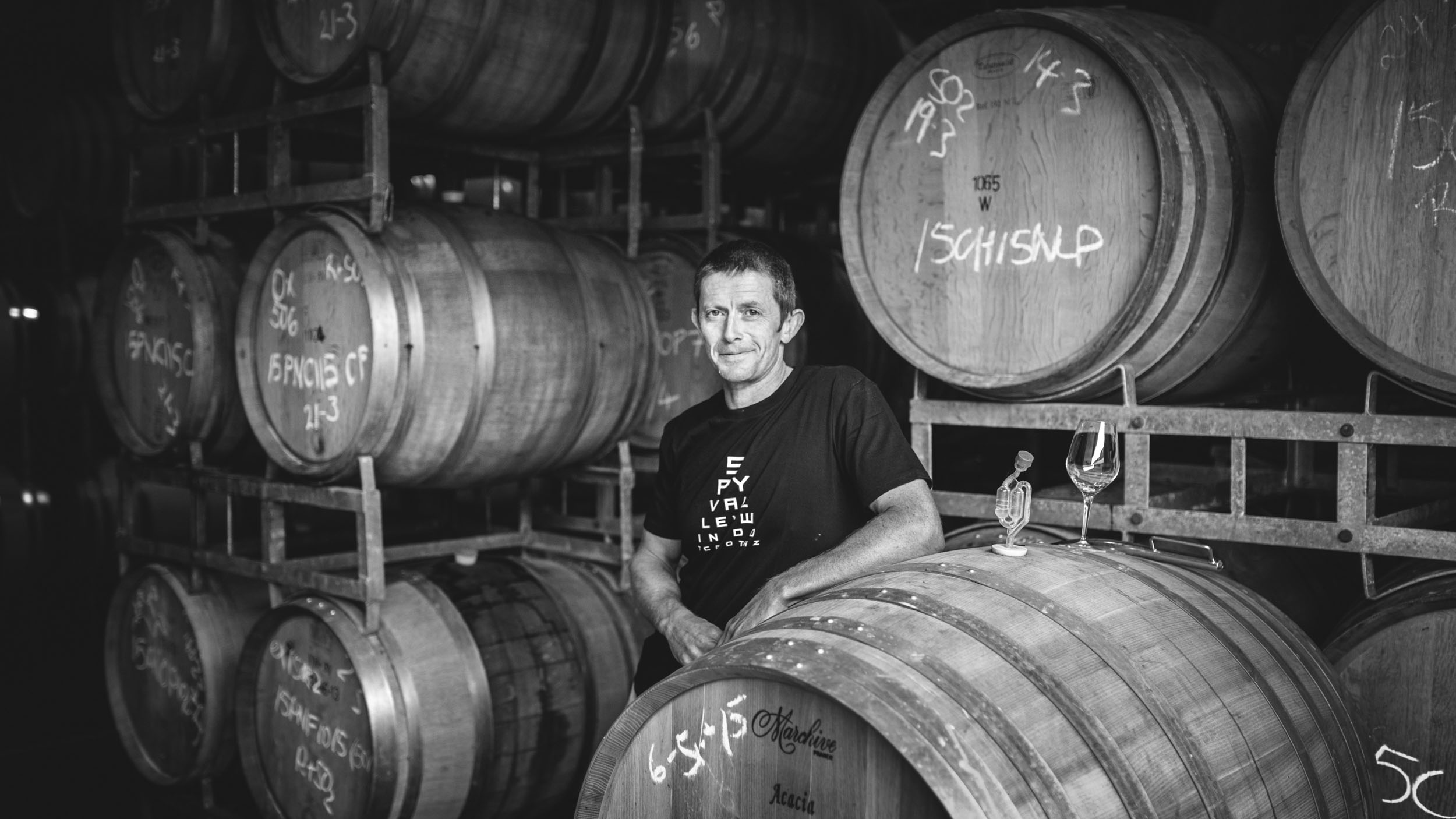 Winemakers commercial portrait by Clinton Lloyd for Spy Valley wines