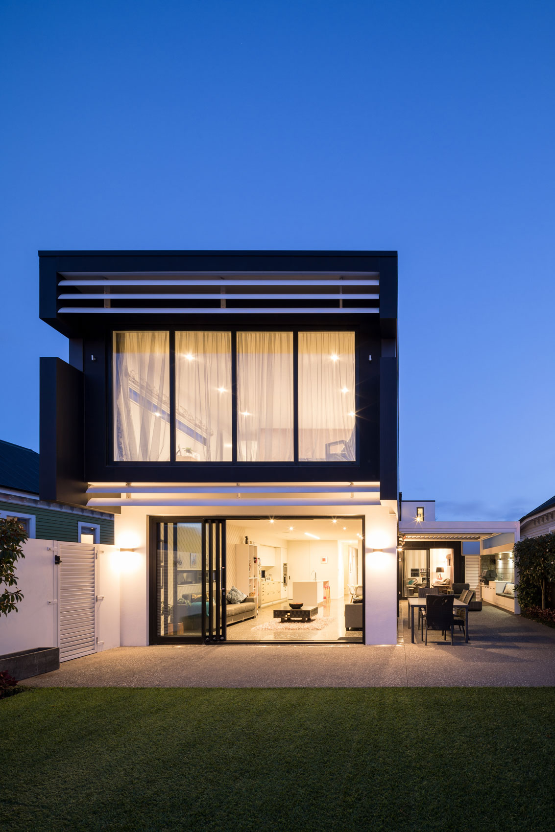Exterior of modern home photographed for Walker Architecture